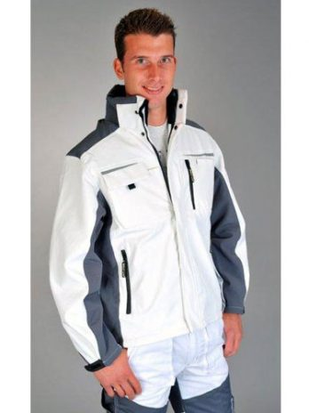 WINTERJACKET  Soft Shell white/grey