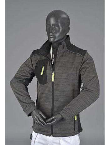JERSEY Jacket donker grijs
