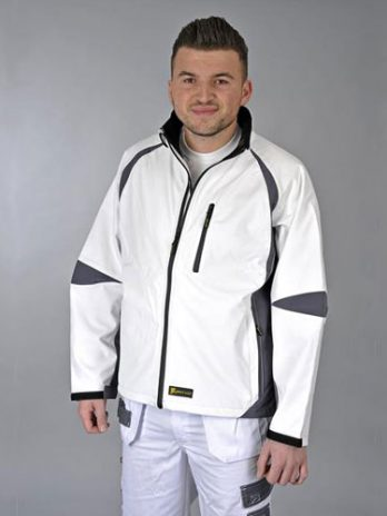 JACKET Softshell  wit/grijs