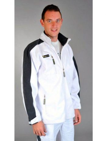 POLAR FLEECE Softshell wit/grijs