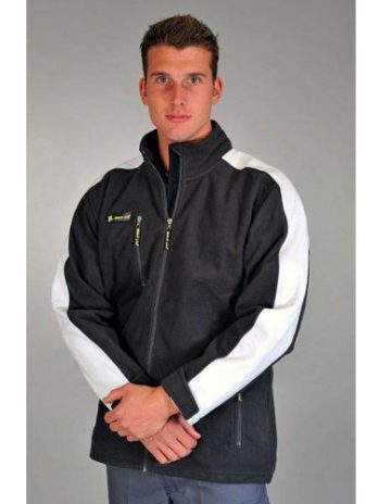 POLAR FLEECE Softshell donkergrijs/wit